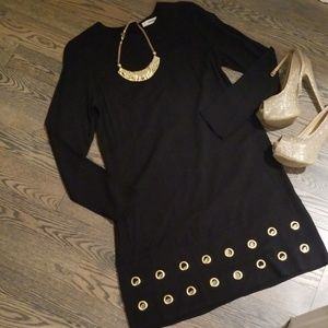 NWT Long sleeve grommet dress